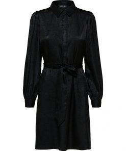 Selected Femme Aurelia Shirt Dress Black