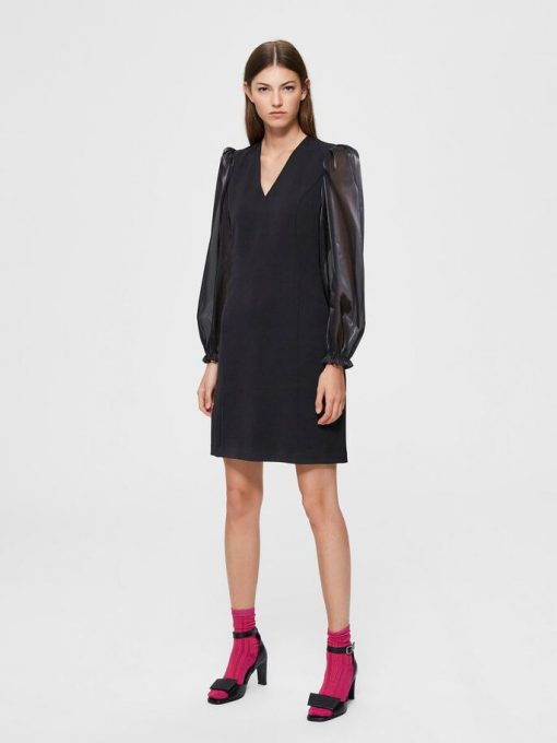 Selected Femme Jomena Dress Black