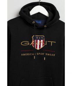 Gant Archive Shield Hoodie Black