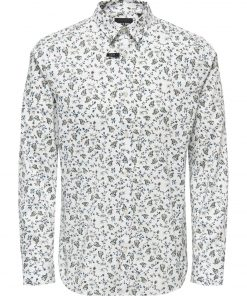 Only & Sons Sander Print Shirt White