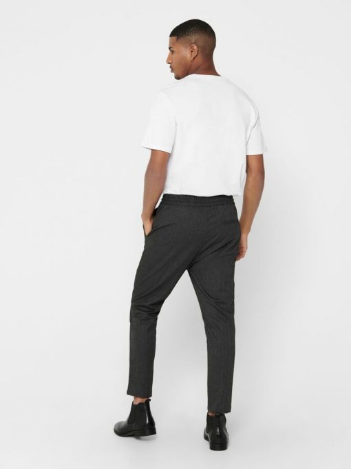 Only & Sons Linus Pants Herringbone Black