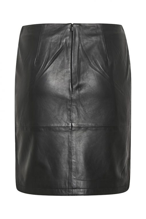 Part Two Ursanas Leather Skirt Black