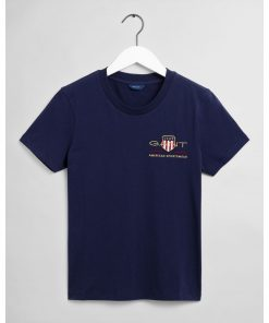 Gant Woman Archive Shield T-shirt Evening Blue