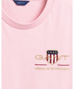 Gant Woman Archive Shield T-shirt Preppy Pink