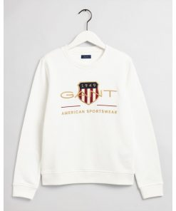 Gant Woman Archive Shield C-Neck Eggshell