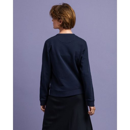 Gant Woman Archive Shield C-Neck Evening Blue
