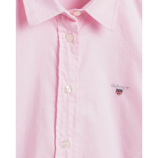 Gant Woman Oxford Solid Shirt Light Pink