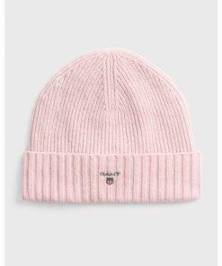 Gant Wool Lined Beanie Light Pink