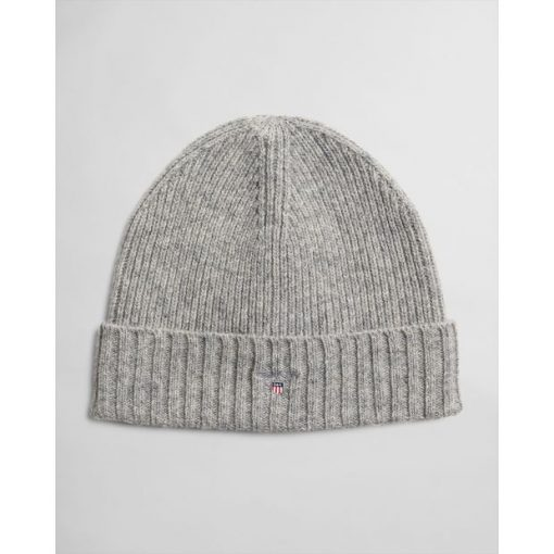 Gant Wool Lined Beanie Light Grey Melange