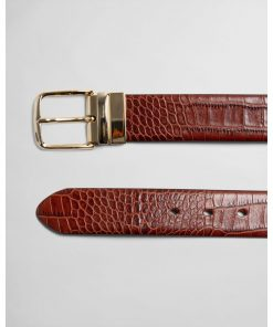 Gant Woman Reversible Croco Belt Clay Brown