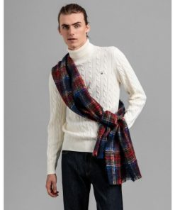 Gant Cotton Cable Turtle Neck Cream