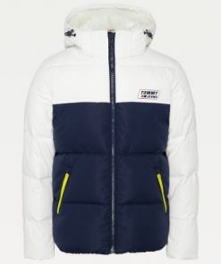 Tommy Jeans Colorblock Jacket White/Twilight Navy