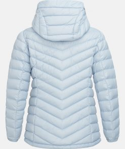 Peak Performance Frost Down Hood Jacket Women Ice Glimpse