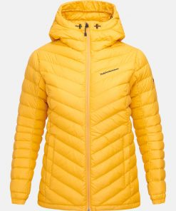 Peak Performance Frost Down Hood Jacket Women Blaze Tundra