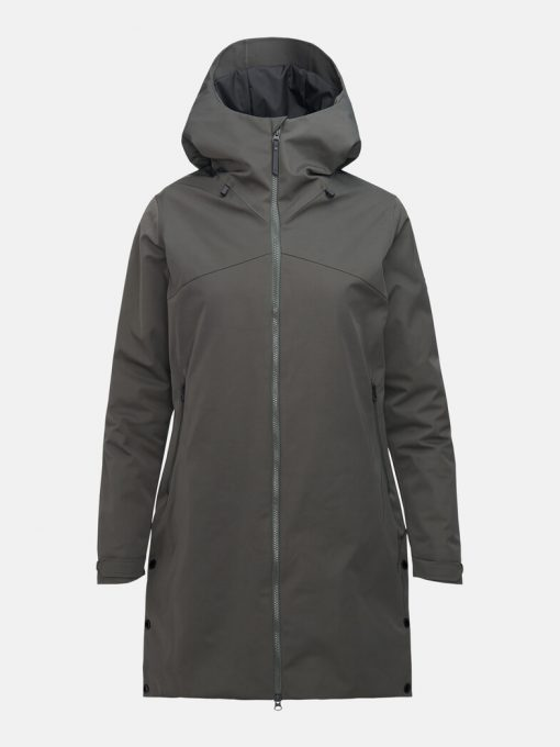 Peak Performance Sapphire Parka Jacket Women Coniferous Green