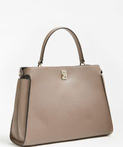 Guess Uptown Chic Shoulder Strap Bag Taupe