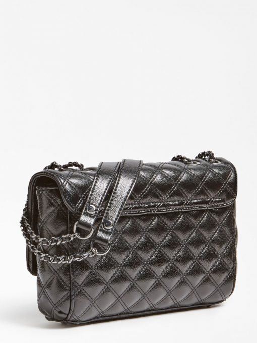 Guess Cessily Quilted Crossbody Black
