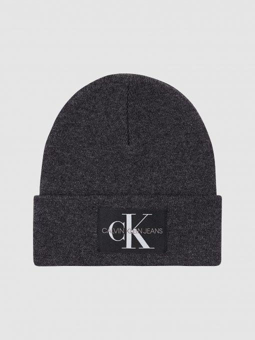 Calvin Klein Logo Beanie Charcoal