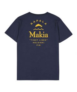 Makia x Rapala Angler T-shirt Dark Navy
