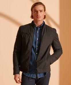 Superdry Wax Biker Navy