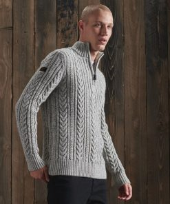 Superdry Jacob Henley Jumper Concrete Twist