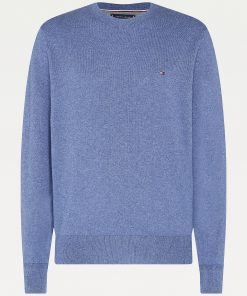 Tommy Hilfiger Pima Cotton/Cashmere Sweater Faded Indigo Heather