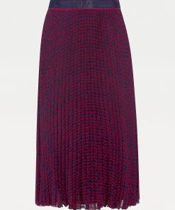 Tommy Hilfiger Bali Printed Midi Skirt Red