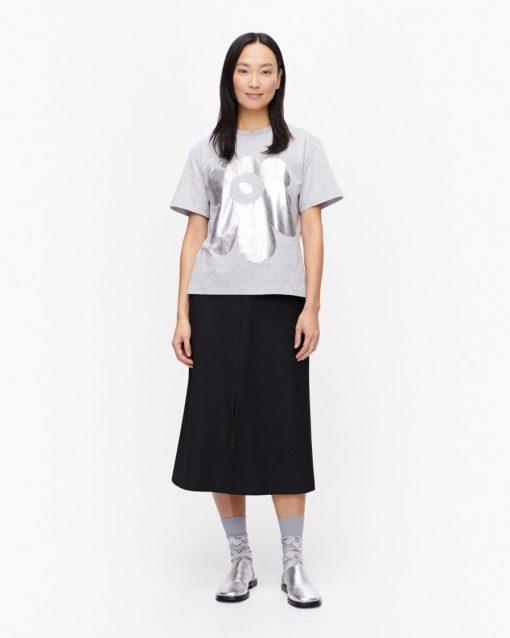 Marimekko Kapina Unikko T-shirt Silver