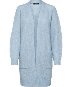 Selected Femme Lulu Long Cardigan Cashmere Blue