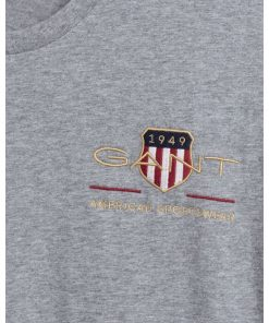 Gant Archive Shield T-shirt Grey Melange