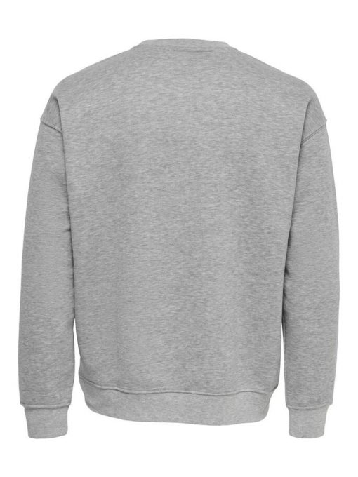 Only & Sons Dancel Crew Neck Light Grey Melange