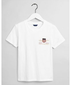 Gant Woman Archive Shield T-shirt White
