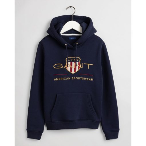 Gant Woman Archive Shield Hoodie Evening Blue