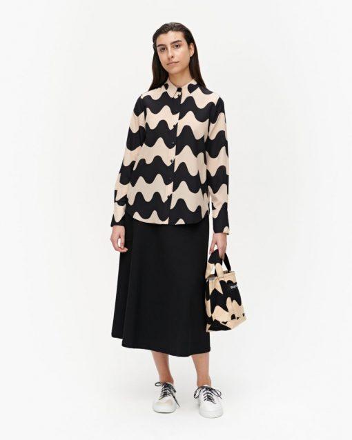 Marimekko Toiveikas Pikku Lokki Shirt Beige/Black