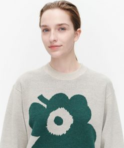 Marimekko Aksiooma Unikko Pullover Beige
