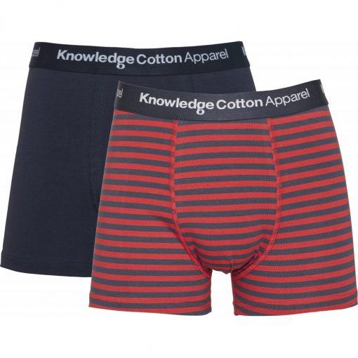 Knowledge Cotton Apparel Maple 2 Pack Underwear Pompeain Red
