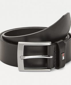 Tommy Hilfiger Flag Leather Belt Gift Box Black