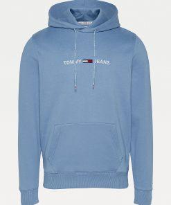 Tommy Jeans Straight Logo Hoodie Men Vintage Denim