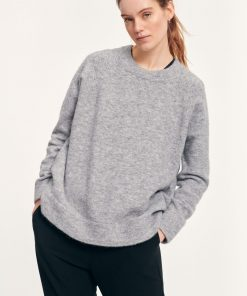 Samsoe&Samsoe Nor O-neck Long Grey Melange