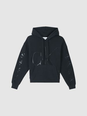 Calvin Klein Ck Logo Eco Hoodie Black