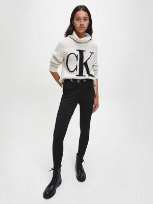 Calvin Klein Logo Roll Neck Sweater