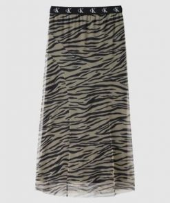 Calvin Klein Zebra Skirt Irish Cream/Black