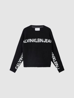 Calvin Klein Logo Banana Sweater Black