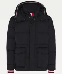 Tommy Hilfiger Down Hooded Jacket Black