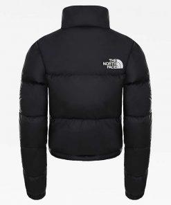 The North Face Nuptse Cropped Jacket Black