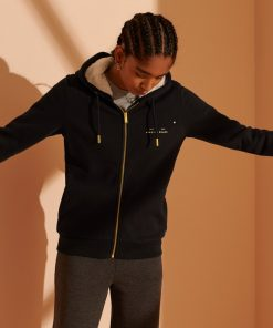 Superdry Established Zip Hoodie Black