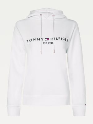 Tommy Hilfiger Essentials Logo Hoody Women White