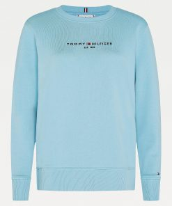 Tommy Hilfiger Essentials Pure Cotton Sweatshirt Columbia Blue