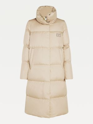 Tommy Hilfiger Recycled Down Coat Beige