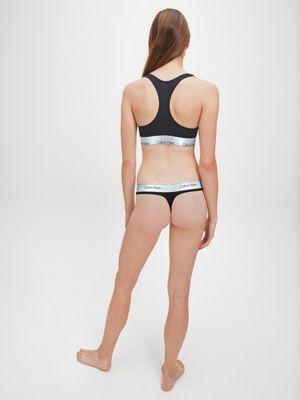 Calvin Klein Bralette & Thong Set Black